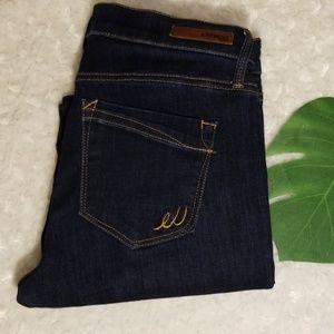 Express Skinny Midrise dark denim jeans